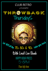 Throwback Thursdays Poster Template