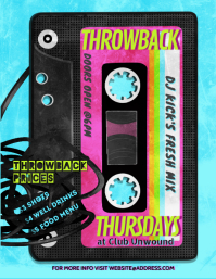 Throwback Thursdays Retro Night Club Flyer