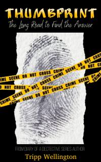 Thumbprint Crime Scene Tape Sampul Buku template