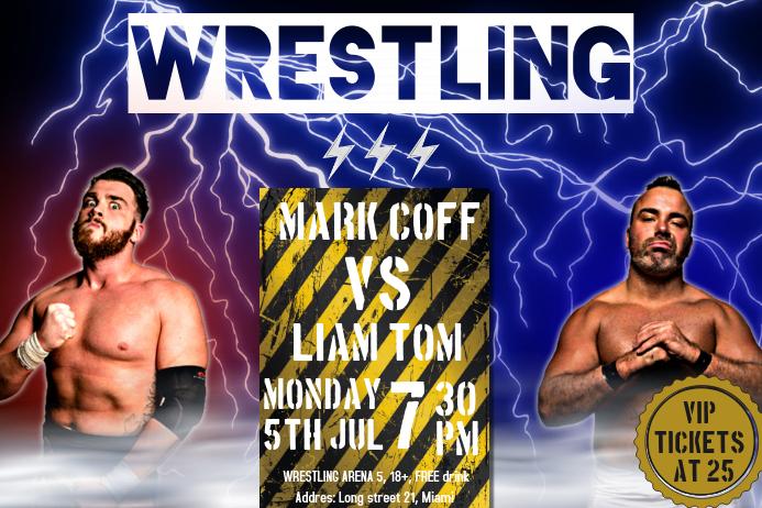 Thunder Landscape Wrestling Poster