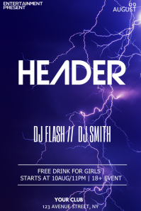 Thunder Party night flyer template
