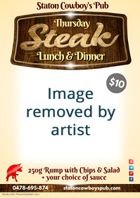 Thursday Lunch & Dinner Steak Poster