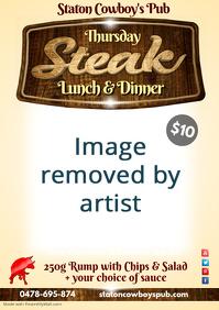 Thursday Lunch & Dinner Steak Poster