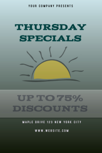 THURSDAY SPECIALS DISCOUNT FLYER