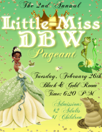 Tiana Pageant Flyer