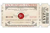 Ticket Étiquette template