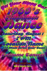 Tie-dye 1960's Poster Invitation