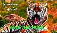 Tiger Day Etiqueta template