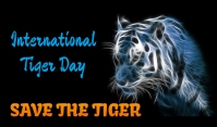 Tiger Day Tag template