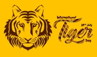 Tiger Day Тег template
