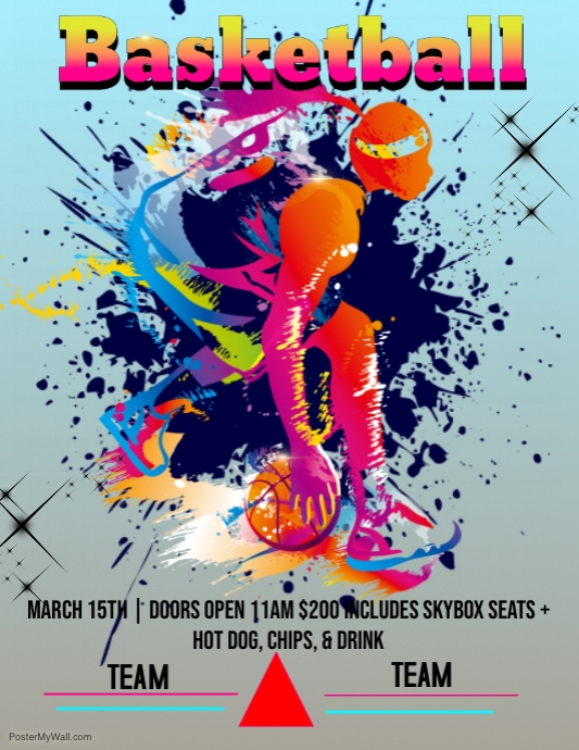 Tiger Force Basketball Flyer Template Postermywall