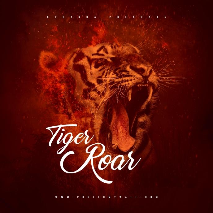 Tiger Roar Mixtape CD Cover Art Template