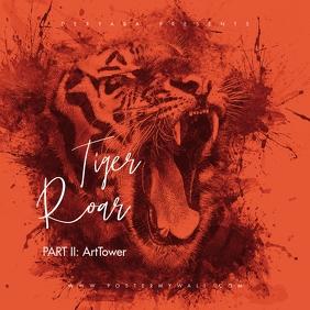 Tiger Roar v2 Mixtape CD Cover Art Template