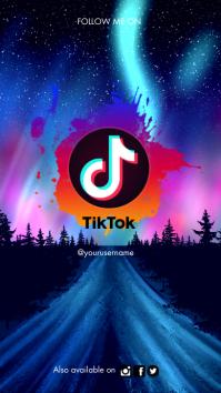 Tik Tok Background Presentation (16:9) template