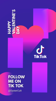 Tik Tok Channel background and cover Digital na Display (9:16) template