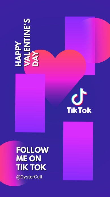 Tik Tok Channel background and cover 数字显示屏 (9:16) template