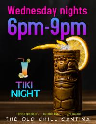 Tiki Bar Drinks Special Flyer