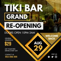 Tiki Bar Grand Reopening Video Invitation