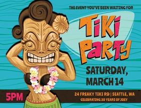 Tiki Party Event Flyer template