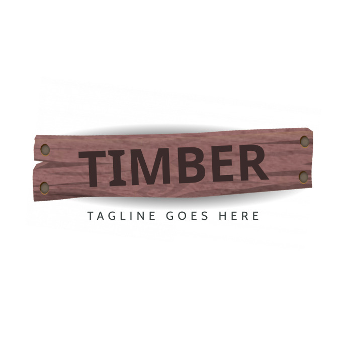 timber logo template for free Logótipo