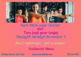 Time Change - Fitness Postcard template