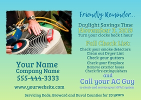 Time Change HVAC Postcard
