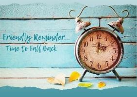 Time Change - Postcard