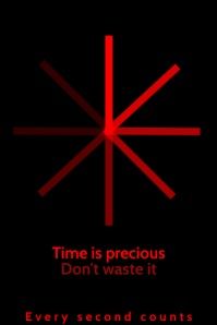 Time is Precious Poster Template