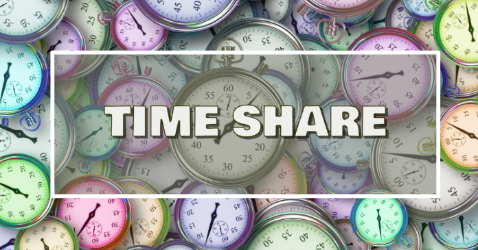 Time share social media share page