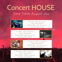 Time Table shedule weekend planner Flyer inst