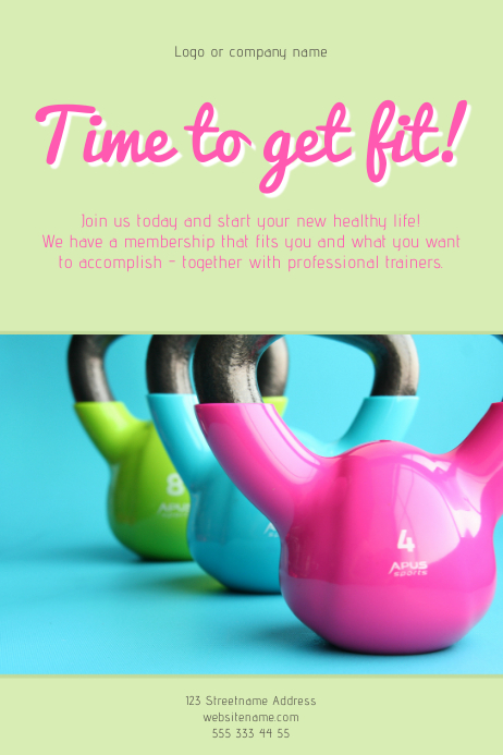 Time to get fit Poster