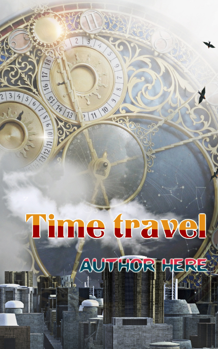 Time travel book cover Kindle/Book Covers template