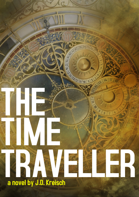 Time travel fantasy book cover A4 template