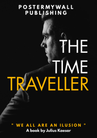 time traveller man black and white book cover