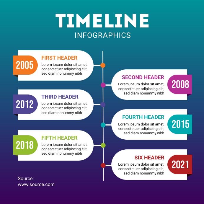 Timeline Design Template Instagram Post
