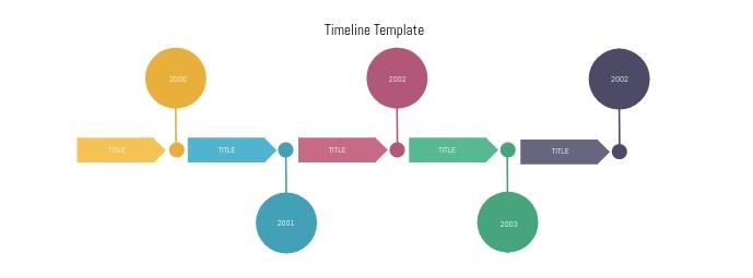 Timeline Horizontal Infographic Banner Facebook Omslag Foto template