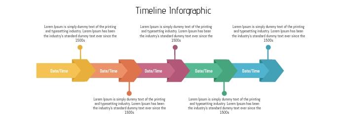 Timeline Infographic Horizontal Facebook Omslag Foto template