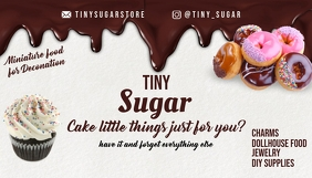 Tiny Sugar Store Business Card Template Biglietto da visita