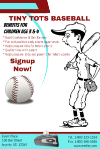 Tiny Tots Baseball Signup Twmplate