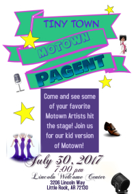 Tiny Town Motown Pagent Flyer
