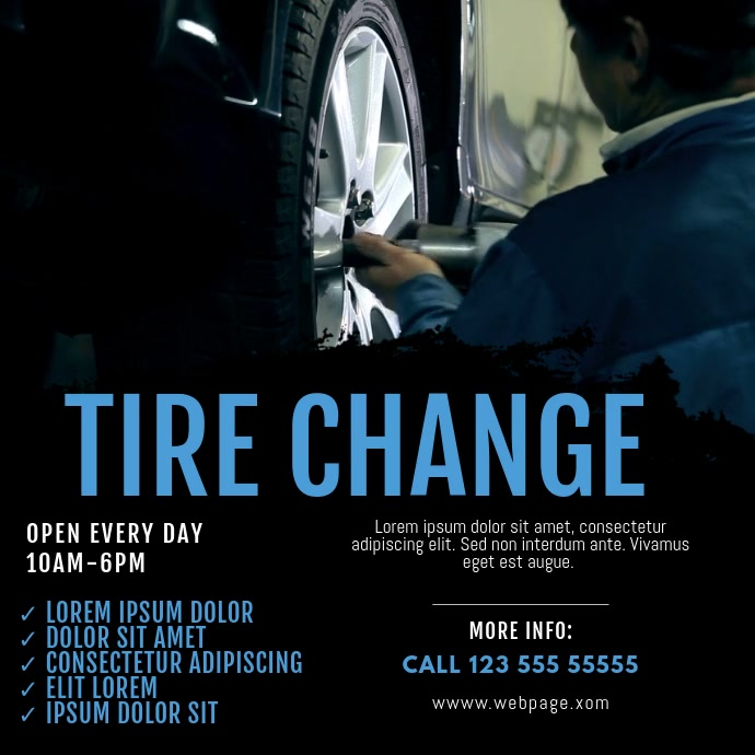 Tire Change Video Ad template