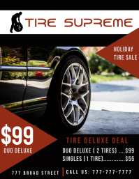 Tire Deal Flyer (US Letter) template