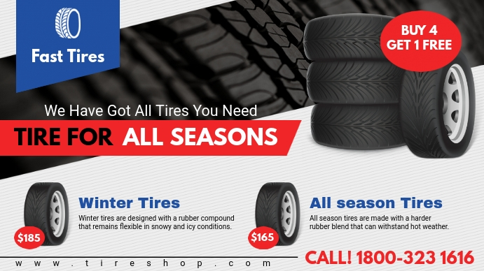Tire for All Seasons Discount Digital Display