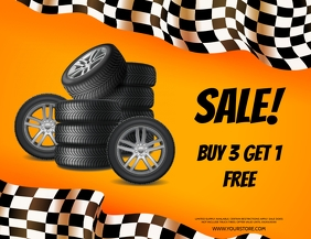 TIRE SALE Pamflet (Letter AS) template