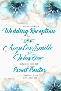 Watercolor Wedding Reception
