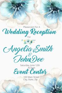 Watercolor Wedding Reception