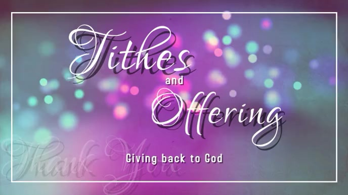Tithes and offering Pantalla Digital (16:9) template