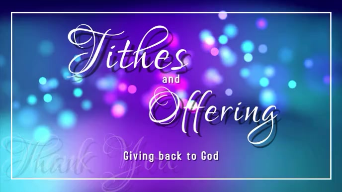 Tithes and offering Digital Display (16:9) template