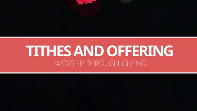 Tithes and offering motion background Digitale display (16:9) template