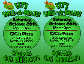 TMNT Birthday Invite